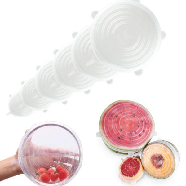 Силиконовая крышка для посуды купить