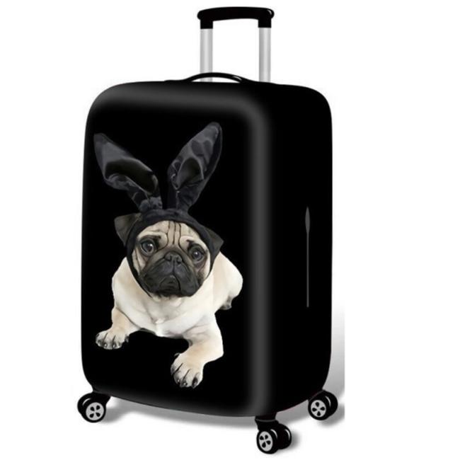чехол на чемодан с собакой
